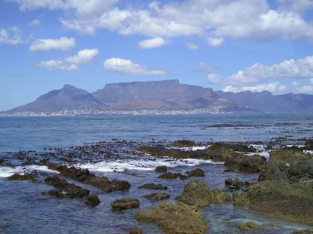 Cape Town as seen from Robben Island.