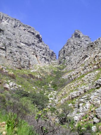 The route up Table Mountain.