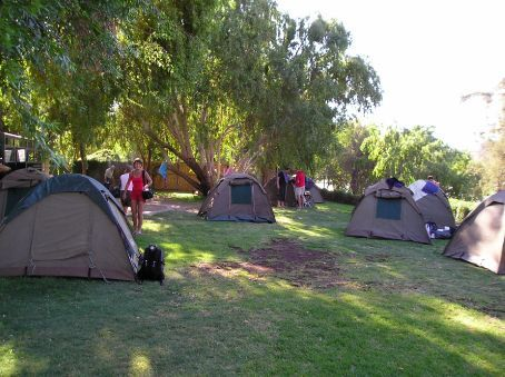 Our camp on the Orange River.