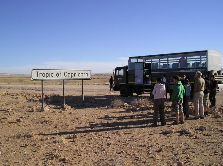The truck by the Tropic of Capricorn.
