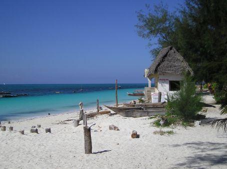 A beach on Zanzibar.