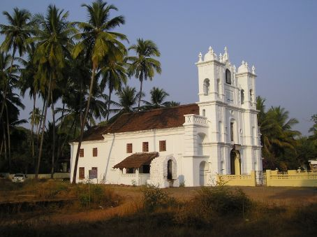 The Portuguese Church beside my guest house in Goa.
