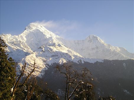 Annapurna South and Annapurna 1.