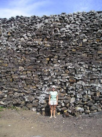 Lou standing next to the Wall of Tears. This was built by prisoners on San Isabela in the 1950´s when the island was used as a penal colony.