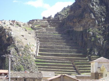 The Inca fort at Ollantaytambo, where the Incas managed to defeat the Spanish.