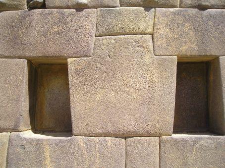 Inca masonary at Machu Picchu.