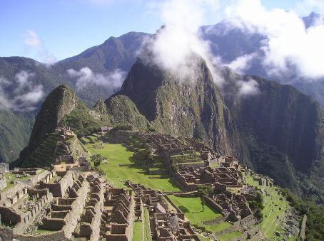 Machu Picchu in the early morning.