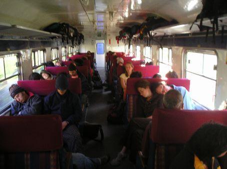 The 'Backpacker Train' from Machu Picchu.
