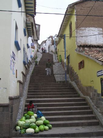 The streets of old town Cusco.