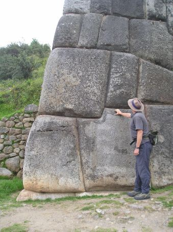 How did that get up there? Some of the blocks that make up the Inca fort above Cusco. The Incas were master masons and they cut and moved stones weighing up to 300 tonnes without the wheel, draft animals and using only bronze age tools.