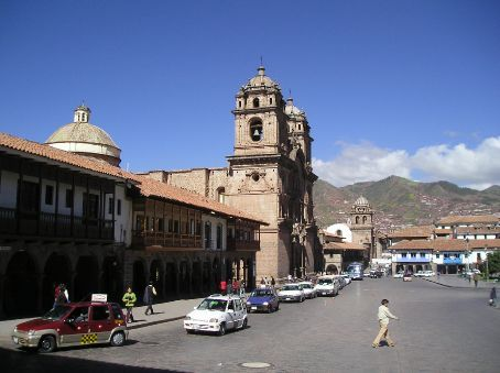 View of the main square in Cusco.