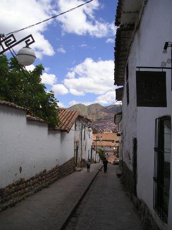 The Spanish streets of Cusco.