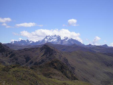 Distant mountains.