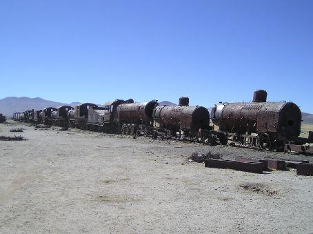 The Train Cementary outside Uyuni.