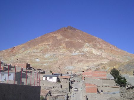The Cerro Rico, Rich Mountain, which overlooks Potasi.
