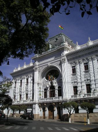 One of the grand buildings in Sucre.