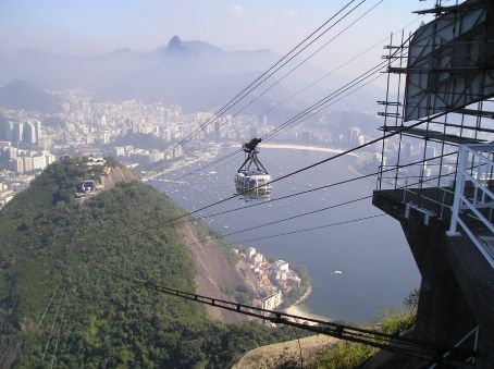 Looking towards the city center from the Sugar Loaf.