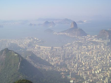 The Sugar Loaf and the downtown area.