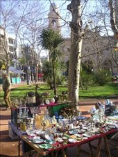 A flea market in one of Montevideo's main squares.: by willlou, Views[374]