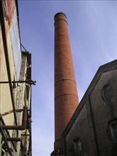 The smoke stack of the factory is a familiar landmark in the area. : by willlou, Views[391]