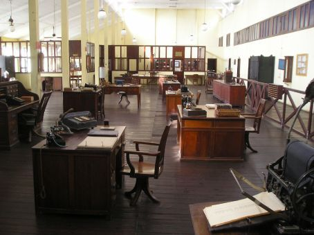 The factory offices using the same furniture and some of the same machines from the 30's, all still in use until 1971.
