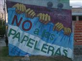 A mural on the Argentine side of the Rio Uruguay, protesting against the pulp mill. : by willlou, Views[345]