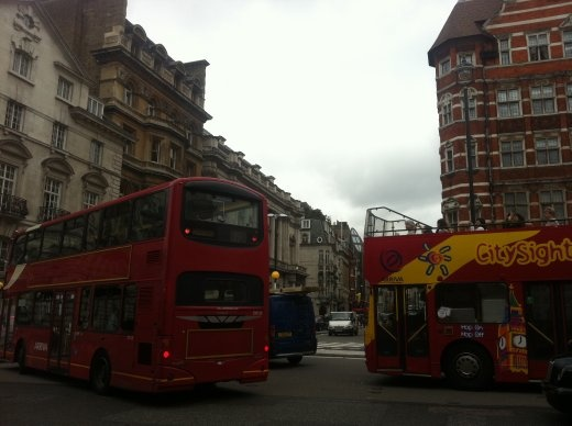 Double-decker buses! Named after a sandwich or chocolate treat or gosh I'm hungry..