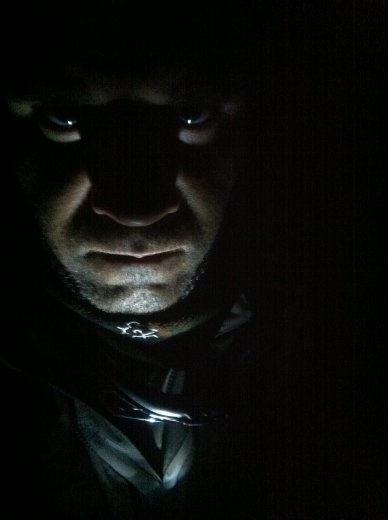 Spooky me pic, I was texting on phone and walked around bike and saw myself in the reflection of the bike mirror and I died a little inside from fear.