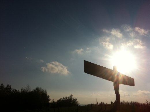 The Angel of The North, a colossal statue in Gateshead, England.