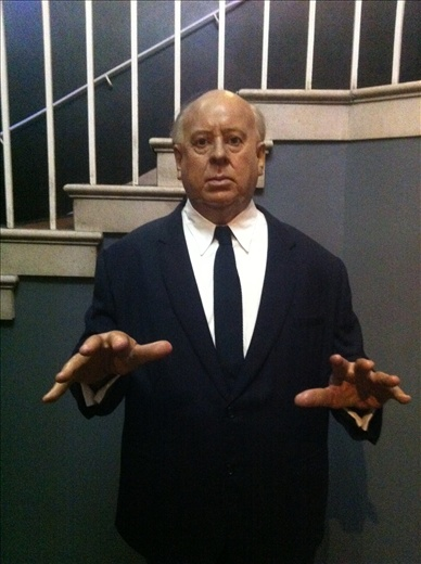 Madame Tussauds, Alfred Hitchcock. Heheheh. Cock. I took very few photos in here, due to a big crowd and someone always hugging the good ones and ruining my shots. Cock.