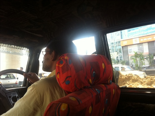 My first cab ride in India, unfortunately not my last. Hell of an experience.