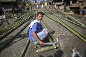 Someone want to build a house, it means whole village will take part. The house frame made by a bamboo. The wood and dry weed takes the entire finish. No metal parts.: by wiranurmansyah, Views[193]