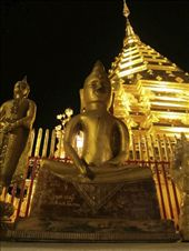 The Enlightened One illuminated at night (Wat Phrathat Doi Suthep, Chiang Mai).: by wisdomsearcher, Views[87]