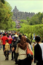The Arrival - Tourists came to visit Borobudur Temple to experience Vesak Day: by wisnumt, Views[337]