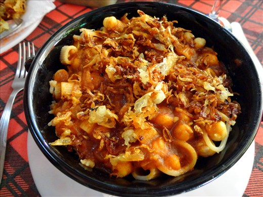 Koshari - Traditional Egyptian Food - picture from Potsoup