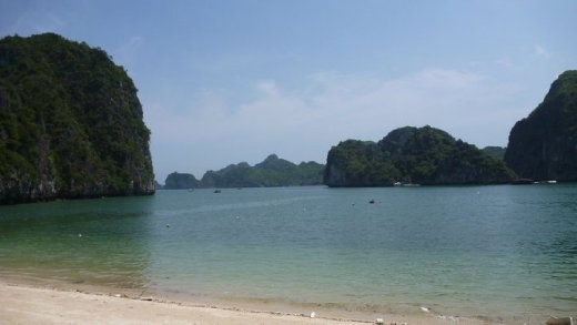 The view from our hut in Halong Bay, a little piece of heaven on earth :)