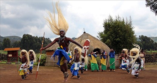 Dancers in the cultural village.