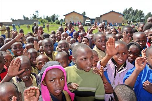 Primary school children in Bisate.