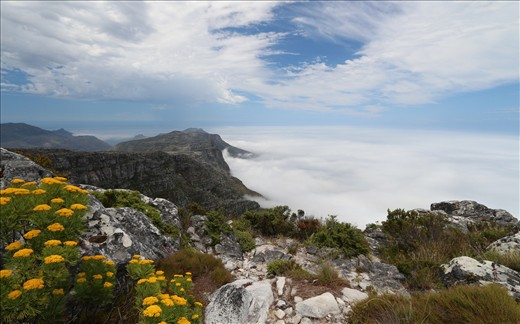 View looking south along the Twelve Apostles from Table Mountain.