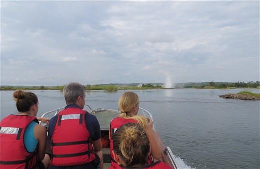 Heading to Victoria Falls and Livingstone Island.
