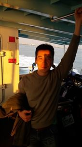 On the boat - our intrepid driver, Ken: by zioned, Views[39]