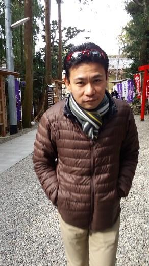 Ryo at the make a wish shrine