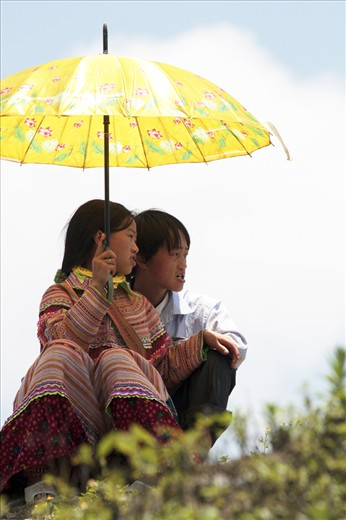 They found Love, at this place but long time ago. The Hill tribes of northern Vietnam meet at the colorful weekly market not only for buying and selling, also for searching love.