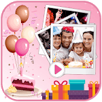 Birthday Video Maker 2018 icon