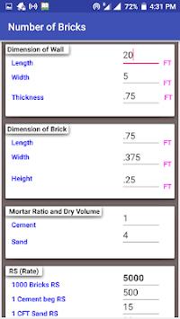 Construction Calculator(Steel,Concrete,Bricks etc) screenshot 1