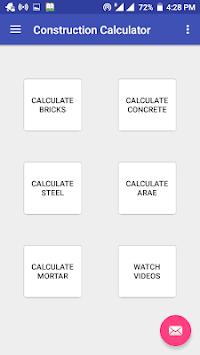 Construction Calculator(Steel,Concrete,Bricks etc) screenshot 3