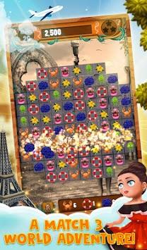 Match 3 World Adventure - City Quest screenshot 2