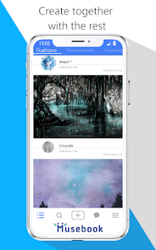 Musebook - Social network for creativity screenshot 2