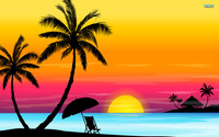 Sunset-beach-background-clipart-1