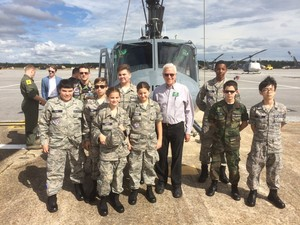 Cadets_and_col_doug_cairns_at_cairns_army_airfield